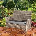 Melko® PolyRattan Gartenbank Gartenmöbel Lounge Sitzgarnitur verschiedene Farben von Melko - Gartenmöbel von Du und Dein Garten