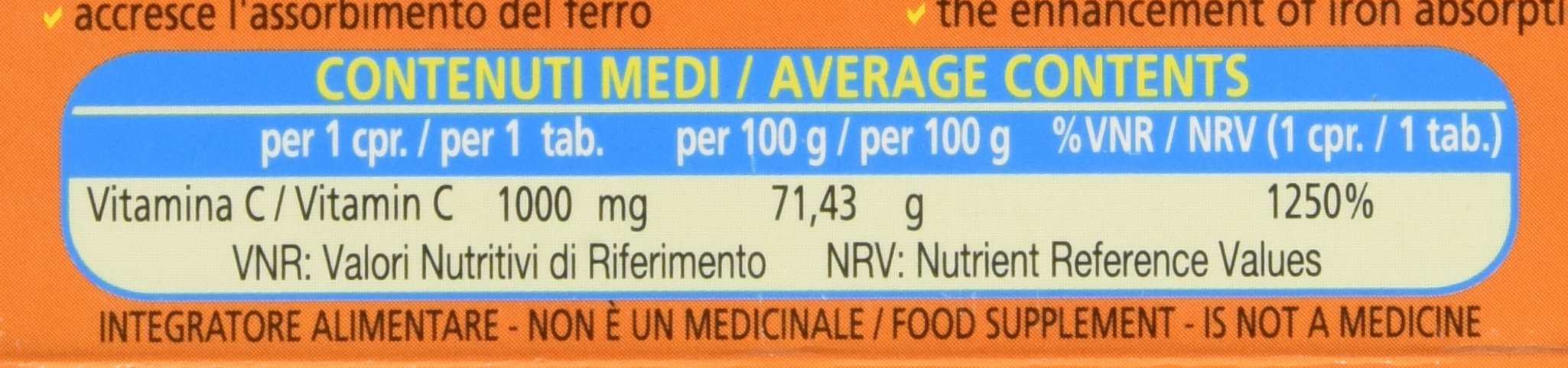 Vitamina C Pura 1000 mg Retard - 30 Compresse 2 spesavip