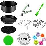 Benooa 114PCS Kit d'accessoires de friteuse d'air accessoires pour friteuses pour toutes les marques de friteuses accessoires