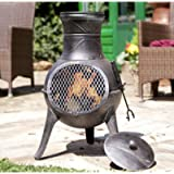 Panama LA HACIENDA Cast Iron Chiminea Garden Patio Heater Log Burner