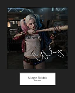 #1 A5 Signed Mounted Photo Print Suicide Squad - HARLEY QUINN MARGOT ROBBIE