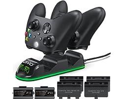 OIVO Cargador Mando para Xbox One Series X S, Xbox Mando Batería 2 x 1300mAH Recargable para Xbox One/One S Serie/One X Serie