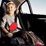 Bundera Plus Çocuk Emniyet Kemeri Düzenleyici Oto Emniyet Kemeri Tutucu Emniyet Kemer Tutucu Kılıf (Kırmızı)