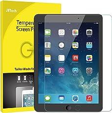 JETech Schutzfolie für Apple iPad (9,7-Zoll, 2018/2017 Modell), iPad Air 1, iPad Air 2, iPad Pro 9,7-Zoll, Gehärtetem Glas Displayschutzfolie