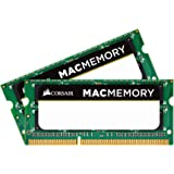 Corsair CMSA8GX3M2A1066C7 Mac Memory - Memoria per Mac, DDR3, 1066 MHz, 1.5 V, CL7, SODIMM 204 Pin, Certificata Apple, 8 GB [2x4 GB]