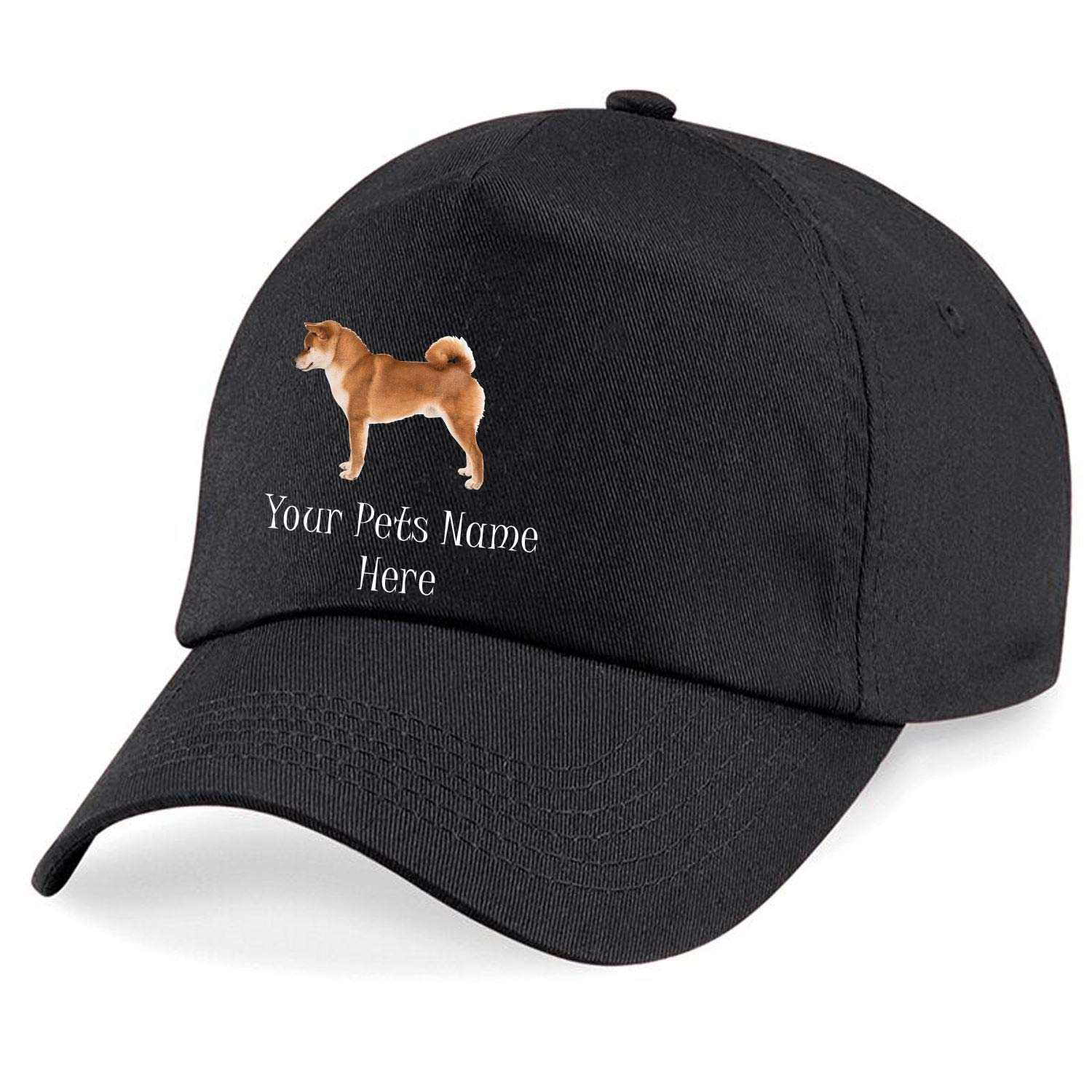 Taurus Clothing Shiba Inu Dog Personalised Embroidered Cap Black