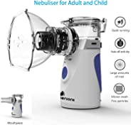 Automatic Steam Inhalators for Adults and Children, Handheld Inhaler for Kids, Mini Ultrasonic Humidifier for Home and Travel Use, Mesh Inhalators with Masks and Mouthpieces (Inhaler)