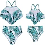 AmzBarley Bañadores Madre e Hija Bikinis Traje de Baño Iguales Ropa Verano,Bañador Traje de Baño de Mujer Niña Tankini Dos Pi