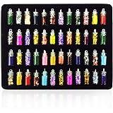 Trendy Club 48 Bottles 3D Nail Art Decoration Rhinestones Diamonds Sequins Glitter Metal Crystal Beads Christmas Design…