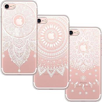 ddb9fc8d2813d7 [3 Stück] iPhone 7 Hülle, iPhone 8 Hülle, Blossom01 Cute Funny Kreative  Cartoon Transparent Silikon Bumper für iPhone 7 / 8 - 3 * Mandala