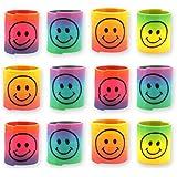 12x Spirale Spielzeug f/ für Kinder-Geburtstag Jungen und Mädchen / Mitgebsel / Kindergeburtstag Gastgeschenke / Smiley Regenbogen Spiralen Paket von Party Pack™