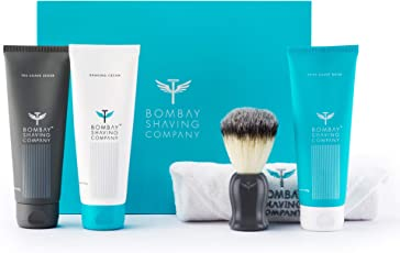 Bombay Shaving Company Shaving Essentials Value Kit - Cream, Scrub, Balm, Brush