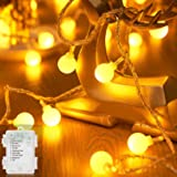 Bigzom Guirlande lumineuse,Intérieur et Extérieur pour Balcon, 6.5 m, 40 LEDs Blanc Chaud, 8 Modes, étanche , pour chambre, f