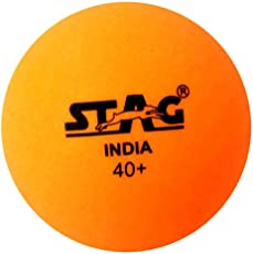 Stag Seam Plastic Table Tennis Ball, 40mm Pack of 6 (Orange)