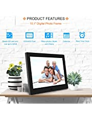 Miracle Digital Widescreen Digital Photo Frame with High Resolution Alarm Clock MP3 MP4 Movie Player, Remote Control. 10.1 Inch Hi-Resolution LCD Frame, Built-in Speaker (1024x600 LCD, Black)