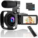 CamVeo 2.7K Video Camera Camcorder, Vlogging Camera met 16X krachtige zoom en 36 Mega pixels IR Nachtzicht Digitaal, Camera R