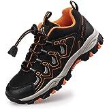 UOVO Boys Trainers Kids Walking Shoes Low-Top Sneakers Children Waterproof Trekking Hiking Footwear Running Shoes Black Blue