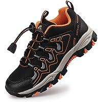 UOVO Boys Trainers Kids Walking Shoes Low-Top Sneakers Children Waterproof Trekking Hiking Footwear Running Shoes Black…