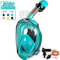 OUSPT Tauchmaske,Schnorchelmaske Vollmaske mit 180° Sichtfeld Vollgesichtsmaske mit Abnehmbarer Kamerahalterung und…