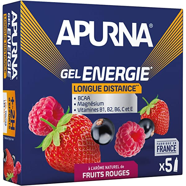 Apurna Gel Energie Longue Distance Fruits Rouges Energisant Made In France 5x35g Amazon Fr Sports Et Loisirs