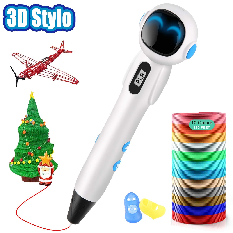 ShuBel-Stylo-3D-Stylo-3D-pour-Enfant-et-Adulte-Robot-Cratif-Professionnel-3D-Pen-cran-LCD-Colors-avec-2-Filament-PLAABS-Robot