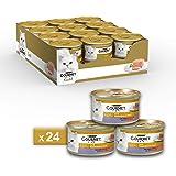 Gourmet Gold Pâté pour Le Chat, avec Agneau et Canard, 85g–Lot de 24pièces