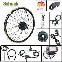 """SCHUCK E-Bike Hub de vélo avec motoréducteur sans balais 36V 250W 27,5""""Kit de Moteur de Conversion de vélo électrique avec Roue de Cassette arrière et écran KT LCD5"""
