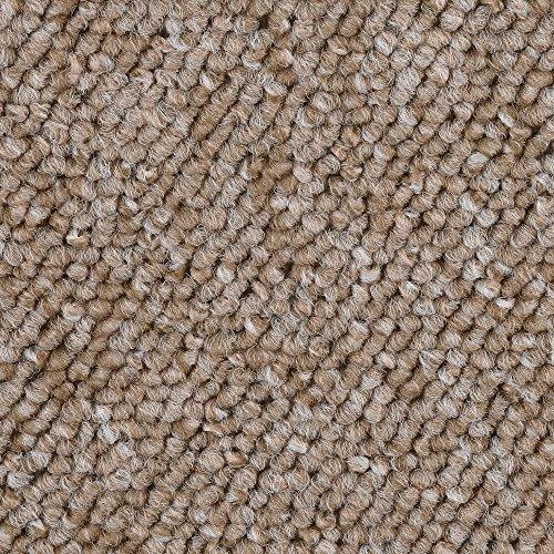 BODENMEISTER BM72392 Teppichboden Auslegware Meterware Schlinge beige 400 und 500 cm breit, verschiedene Längen, Variante: 2,5 x 4 m