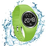 RCruning-EU Smartwatch Schrittzähler Fitness Armband Wasserdicht IP68 Aktivitätstracker,Schrittzähler,Kalorienzähler Ohne Bluetooth für Damen Kinder Herren Ohne App Handy