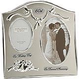 "Portafoto - Portafoto con scritta ""Glücklich 60° Diamond Wedding Anniversary Dual"