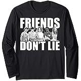 Netflix Stranger Things Friends Don't Lie Group Shot Manche Longue