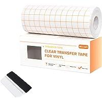 Papier Film Transfert Vinyle Rouleau Transparent 15cm*15m avec Grille d'Alignement Orange Ruban de Transfert Cameo…