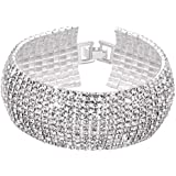 Yellow Chimes Crystals from Swarovski Platinum Plated Crystal Bracelet for Women and Girls