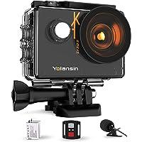 Yolansin Action Cam 4K 60FPS 20MP WiFi 40M wasserdichte Unterwasserkamera EIS Sportkamera mit 170 ° Weitwinkel HD DV…