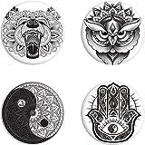 Unorthodox Collective - Pack de chapas con diseño de Mandala