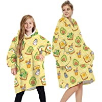 L&ieserram Oversized Blanket Hoodie Fluffy Fleece Hoodie Blanket for Women Men Kids Wearable Hooded Blanket with Big…