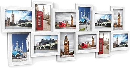 Hervorragend SONGMICS Bilderrahmen Collage Für 12 Fotos Je 10 X 15 Cm Fotorahmen Aus  MDF Platten