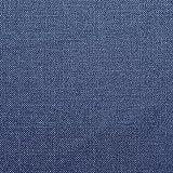 Furninero - 140 cm Breit, Geknöpfter Gepolsterter Sitzbank Sitzhocker Sitzruhe Betthocker Ottomane mit Stauraum gerundete Beine, Naturel Blue Stoff, Blau