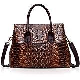 NICOLE & DORIS Taschen Handtaschen designer taschen Krokodil Top umhängetasche luxuriöse ledertasche damen PU Leder Braun