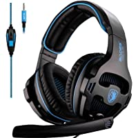 [L'ultima Versione Cuffie Gaming per PS4] Sades SA810 Cuffie da Gioco con Microfono Stereo Bass Regolatore di Volume per…