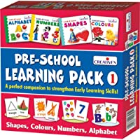 Creatives Pre-School Learning Pack 1 Shapes, Colours, Numbers And Alphabet (Multi-Color)