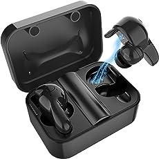 Bluetooth Kopfhörer in Ear V5.0, Sport Ohrhörer Kabellose/Wireless Kopfhörer, Staub/Wasserdicht IPX6, 77 Stunden Standby-Zeit, 30 Minuten Schnellladung, Noise Cancelling Kopfhörer mit Mikrofon Für alle Bluetooth-Geräte