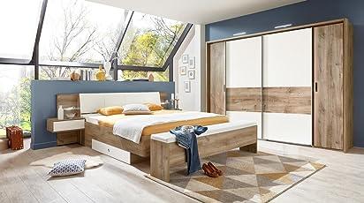 Lifestyle4living Schlafzimmer, Schlafzimmermöbel, Set Komplett,  Komplettset, Schlafzimmereinrichtung, Komplettangebot, Einrichtung,