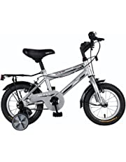 """Vaux Plus 12"""" Silver Kids MTB Bicycle. Ideal for Cyclist with Height (2'8""""- 3'3""""). Simple & Easy to Assemble."""