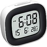 Mpow Reloj Despertador Digital con Luz de Noche, Reloj de Viaje con Pilas, Zumbador Alarma, Fecha, Temperatura, Función Snooz