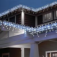 [240 LED] Lichterkette, 9M 8 Modi Lichterkette Außen Strom Weihnachtsbeleuchtung Wasserdicht Außen/Innen LED…