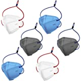 Shocknshop N95 Reusable Washable Face Mask CE, ISO, FDA and WHO-GMP Certified With 5 Layer For Men Over Head Loop - Pack of 6
