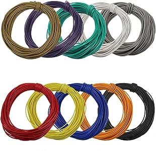 0,15 EUR//m 10m BRAUN Kabel//Litze für Modellbahn//Modellbau 0,14 mm² NEU