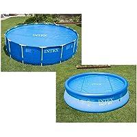 INTEX Bâche à bulles Bleu 206 x 206 x 1 cm