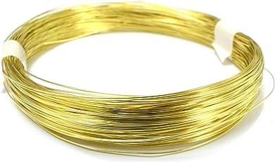 10 Meters Brass Wire - 22 Gauge (0.711 mm Diameter) - Golden Wire for Jewellery - DIY Jewellery & Artistic